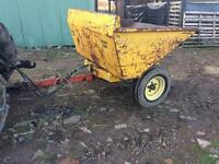Dump trailer made from old dumper pull with tractor or 4x4 ideal for small holding or horse yard