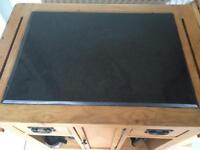 Butchers block kitchen granite top solid wood