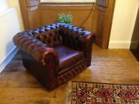 Chesterfield 3-seater sofa and armchair