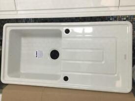 Gorgeous - Blanco Tolon -White Ceramic Sink - Brand New
