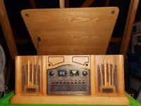 Wooden Retro Turntable with AM/FM Radio, Built in CD Player and Cassette Player