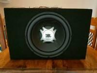 JBL Car Sub Woofer + Alpine 4 Channel Power Amplifier MRP-F250