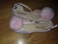Brand new pink pom pom sandals size 5