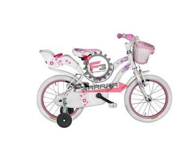 458.RM1D1200022BI Bici Karina 12 Infantil Blanco/Rosa