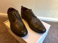 Dark Brown Leather Men's Smart Shoes.
