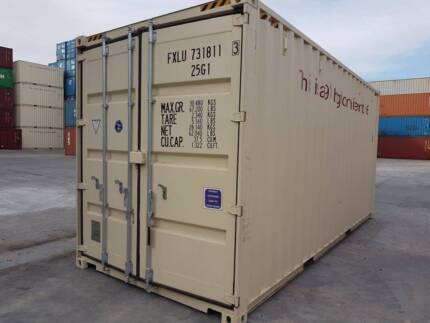 20' HI CUBE SHIPPING CONTAINER- DOUBLE ENDED DOORS