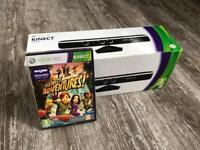 Xbox 360 Kinect with game and zoom attachment