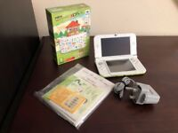 Nintendo 3DS XL (NEW version) + Charger + Animal Crossing: Happy Home Designer + amiibo Card