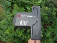 Odyssey DFX 2-Ball Blade putter, good condition with head cover
