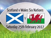 TWO x SCOTLAND v WALES TICKETS