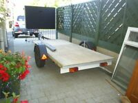 flat bed trailer approx 10ft x 52in bed and 15ft overall ideal quads or grass cutters