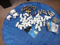 Assorted plumbing fittings