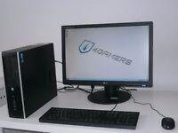 HP COMPAQ 8200 ELITE SFF PC----CORE i5-- + LG 22 INCH MONITOR SETUP