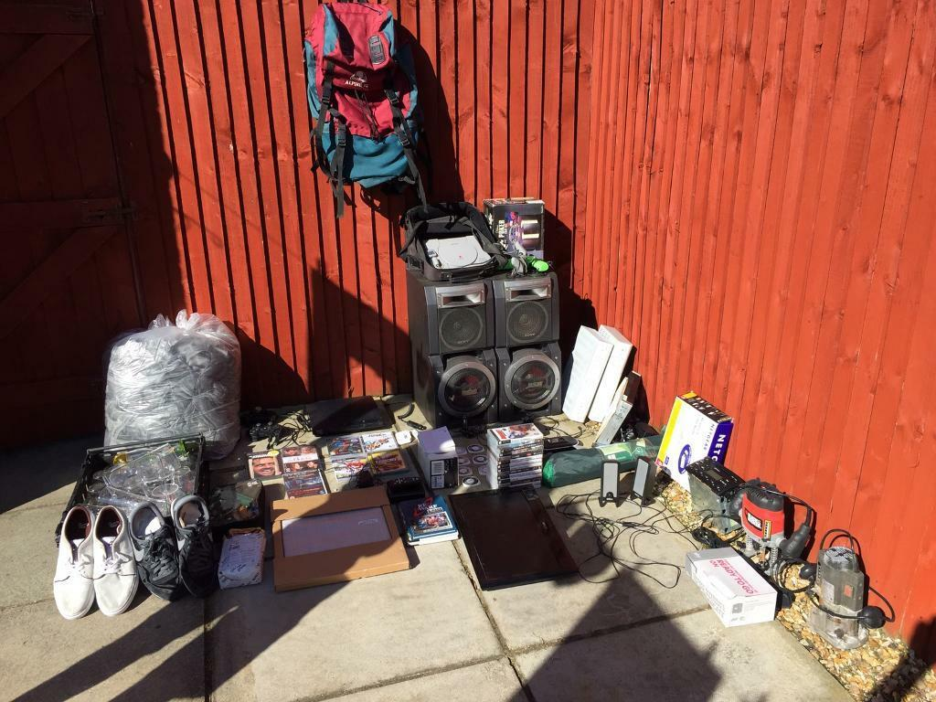 Loads of itemscar boot etcin Liverpool, MerseysideGumtree - Had a sort out and selling all. Will sell individually or will accept an offer for all for anyone who does car boots etc. Items include... silver chair dashes from recent wedding (approx 90), PlayStation 3 and games (2 controllers and Bluetooth...