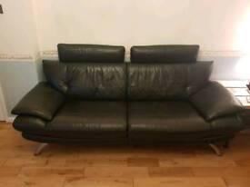 Faux Leather Setee & Chez Longe Set (Cost £1200)