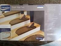 2 Packs of 15 Stair Carpet Mats