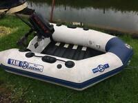 Rib boat outboard 2 man dingy canal