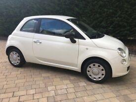 White Fiat 500, Nov2010 registered, £3500 ONO