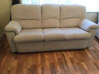 G Plan 3 seater sofa and 2 armchairs