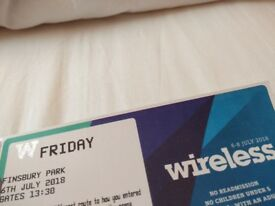 Wireless ticket (Friday)