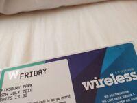 Wireless ticket (Friday)