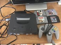 N64 Nintendo 64 console & 4 games