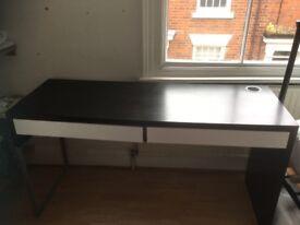 A black and white desk Ikea desk