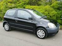 2001 TOYOTA YARIS GS 998cc BLACK 3 Dr SMALL FIRST MICRO CAR