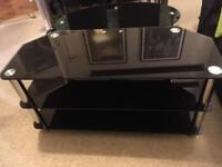 Black glass tv stand *lowered price*