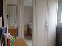 2 White Wardrobes and Dressing Table