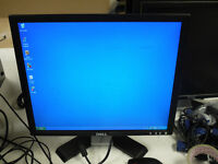 "Job lot of 8 DELL LCD 19"" monitors VGA only includes Power cable and VGA cable"