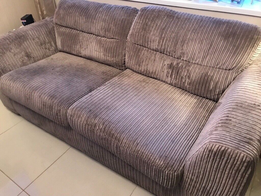 Grey Two Seater Sofa Cuddle Seat