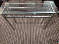 Glass topped Console table for sale