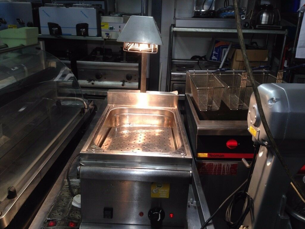 CATERING COMMERCIAL TABLE TOP CHIP DUMP SCUTTLE CHIPS WARMER MACHINE CAFE FAST FOOD RESTAURANT BAR