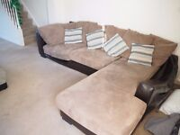 2x L-shaped Sofas - very comfy & going cheap for collection
