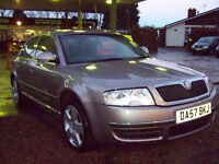 57 SKODA SUPERB DIESEL VERY HIGH SPEC FULL SERVICE HISTORY DPF SERVICED NEW MOT FANTASTIC CAR £2795