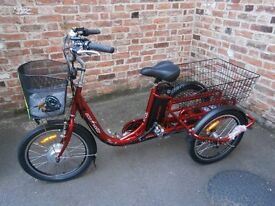 *NEW Electric Tricycle* E-Trike EcoVoltz Flex3. Pivoting E-Trike Adults Battery Powered Tricycle