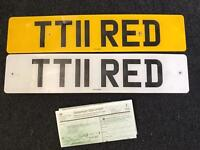Private plate on retention certificate