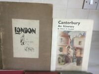 2 Books on London and Canterbury