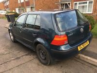 2001 Volkswagen Golf 1.6 (Spares Or Repairs)