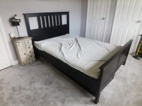 Ikea Hemnes King Size Bed (Black, with storage drawers)