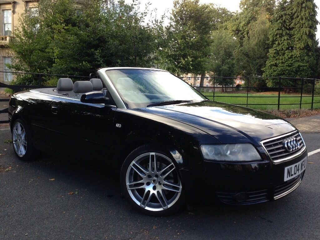 2004 audi a4 convertible 1 8 upgraded rs4 alloy wheels in leeds city centre west yorkshire. Black Bedroom Furniture Sets. Home Design Ideas