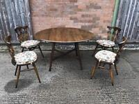Ercol table an chairs