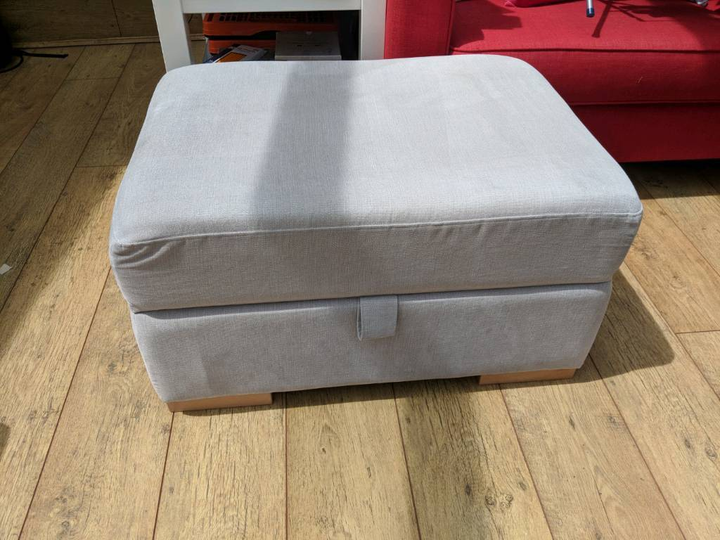 DFS storage foot stoolin Southampton, Hampshire - Selling a DFS footstool on grey. Top lifts up for storage as well. Slight stain on top. Selling the matching sofa in another advert
