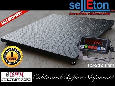 48 X 48 4 X 4 Floor Scale Pallet Size With Rs-232 Port 5000 X 1 Lb