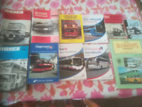 BUS HANDBOOKS, HUGE COLLECTION OF NEARLY 100, NATIONAL EXPRESS, BUSES,