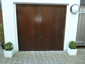 Hardwood up & over Garage Door