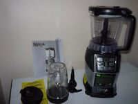 Nutri Ninja Blender Compact Kitchen System with Auto IQ Food Processor 1200W