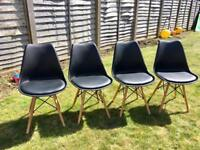 Four Eiffel style dining chairs