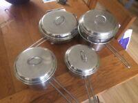 Stainless steel Italian saucepans